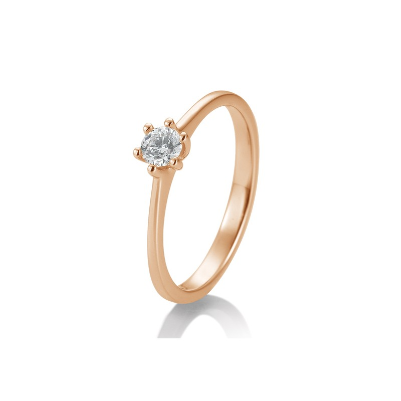 Solitaire - Paris Ring 585 Rotgold