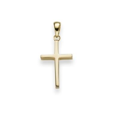 Anhänger Kreuz Gelbgold